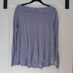 Flowy lavendar long sleeve swing top